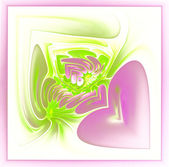 Abstract hearts in frame — Stockfoto