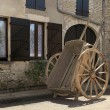 Stock Photo: High two-wheeled cart, Burgundy, France