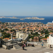 Stock Photo: View Port of Marseille and If castle, France