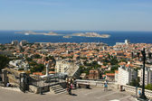 View Port of Marseille and the If castle, France — Stock Photo