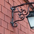Street metal lantern on a textured wall, Burgundy, France — Stok fotoğraf