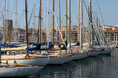 The yachts moored in the port of Marseille — Stock Photo