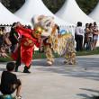 MARSEILLE, FRANCE - AUGUST: Chinese dance with dragon. Marseille - Stock Photo
