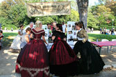 MARSEILLE, FRANCE - AUGUST: Organizers evenings old dances in hi — Stock Photo