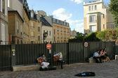 PARIS, FRANCE - AUGUST 26: Street musicians in Paris on August 2 — Stock Photo