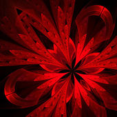 Beautiful fractal in red. Computer generated graphics. — Stock Photo