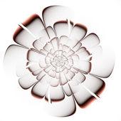 Fractal beige flower on white background. — Stock Photo