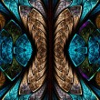 Stock Photo: Fractal pattern in stained glass style.