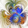 Flower background. Computer generated graphics. — Stock Photo