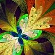 Stock Photo: Multicolor beautiful fractal flower. Computer generated graphics