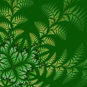 Fabulous asymmetrical pattern of the leaves on green background. — Stock Photo