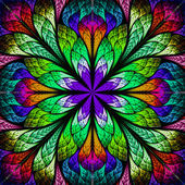 Multicolor beautiful fractal flower. Computer generated graphics. — Stock Photo