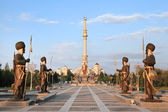 Monumen Arch of Independence in sunset. Ashkhabad. Turkmenistan. — Stock Photo