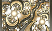 Pattern from being shone spheres and curves. — Stock Photo