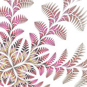 Fabulous asymmetrical pattern of the leaves on white background. — Stock Photo
