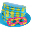 Blue hat and  mask for party and carnival — Foto de Stock