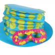 Blue hat and  mask for party and carnival — Stock Photo