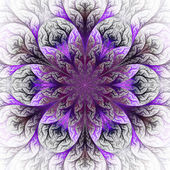 Beautiful fractal flower in purple and gray. — Stock Photo