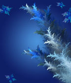 Blue Christmas background in elegant style. Computer generated g — Foto de Stock