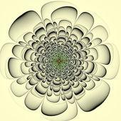 Beautiful contour flower on yellow background. Computer generate — Stockfoto