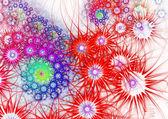 Blumen hintergrund. computer-generierten grafiken. — Stockfoto