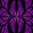 Fabulous symmetric pattern of the leaves in purple. — Stock Photo