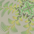 Fabulous asymmetrical pattern of the leaves on gray background. — Stock Photo