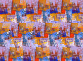 Multicolor abstract background in geometric style. — Stockfoto