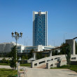 View on the new building. Ashkhabad. Turkmenistan. — Stock Photo