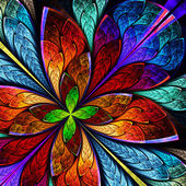 Beautiful multicolor fractal flower. Computer generated graphics — Stock Photo