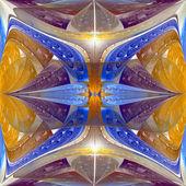 Modèle fractal multicolore. graphiques générés par ordinateur. — Photo