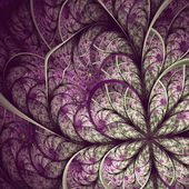 Beautiful fractal flower in vinous and gray. Computer generated — Stock Photo