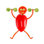 Healthy eating. Little funny man made of pepper. — Stock Photo