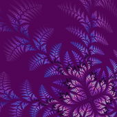 Fabulous asymmetrical pattern of the leaves on vinous background — Stock Photo