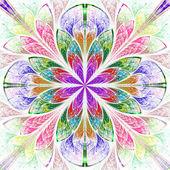 Multicolor piękny fraktal w stylu okna witrażowe. — Zdjęcie stockowe