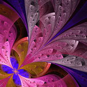 Beautiful fractal flower in blue and pink. — Stock Photo