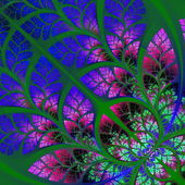 Multicolor fabulous fractal pattern. Collectiont - tree foliage. — Stock Photo