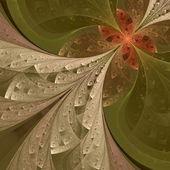 多色のすばらしいフラクタル パターン。collectiont - ツリーの葉. — ストック写真
