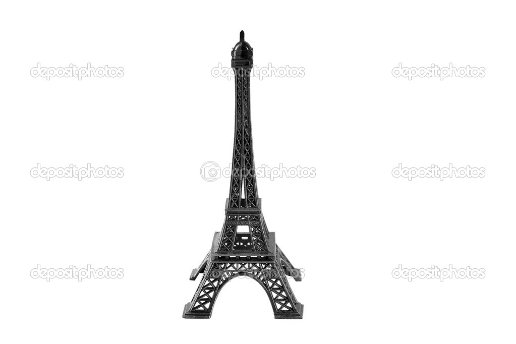 Eiffel Tower Black And White Background Eiffel Tower Isolated on White
