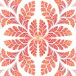Stok fotoğraf: Fabulous symmetric pattern of leaves in orange.