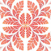 Fabulous symmetric pattern of the leaves in orange. — Stock Photo