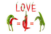 Picture of the peppers, as an illustration of different sexes an — Stock Photo