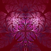 Fabulous fractal pattern in pink. Collectiont - tree foliage. — ストック写真