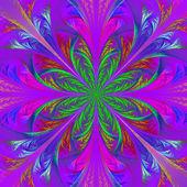 Güzel fractal çok renkli çiçek. oluşturulan bilgisayar grafikleri — Stok fotoğraf