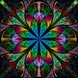 Multicolor beautiful fractal in stained glass window style. — Stock Photo #41114621