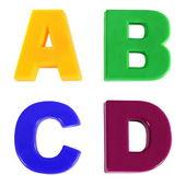 информация, разноцветные пластиковые дети буквами — Стоковое фото