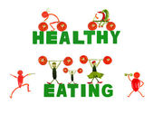 Healthy eating. Little funny people made of pepper. — Stock Photo