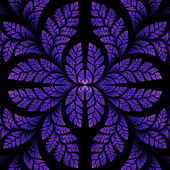 Fabulous symmetric pattern of the leaves in purple. Computer gen — Stock Photo