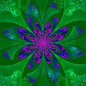 Fabulous symmetrical flower pattern. Computer generated graphics — Stock Photo