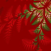 Asymmetrical pattern of the leaves in red and green.  Computer g — Stock Photo